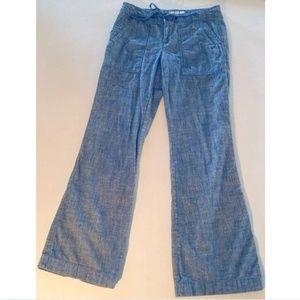 BANANA REPUBLIC Blue Chambray Summer Pants. 0P.